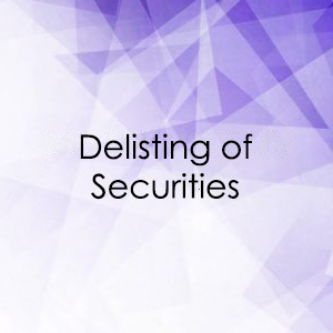 Delisting of Securities